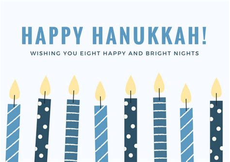 customize  hanukkah card templates  canva
