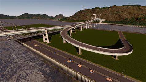 Double Decker Rail Bridge Citiesskylines