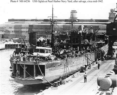 Boat Salvage Yard Nh by Usn Ships Uss Oglala Cm 4 Salvage 1942