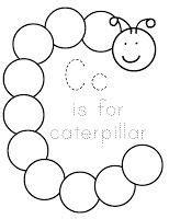 letter   caterpillar art activity letter