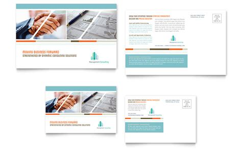 management consulting postcard template word publisher