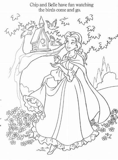 Coloring Belle Princess Disney Pages Princesses Games