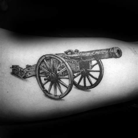 cannon tattoo designs  men explosive ink ideas