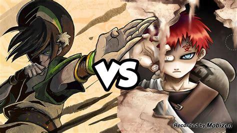 gaara grey gara vs toph why battle
