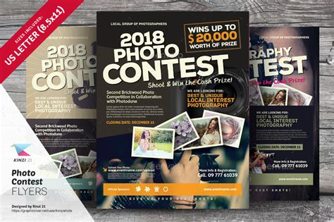 Photo Contest Template by Photo Contest Flyer Templates By Kinzishots Graphicriver