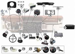 Diagrams For Jeep    Dash Parts    Jeep Cj 1976