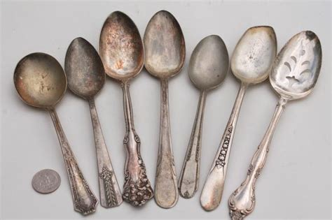 Vintage Silver Plate Flatware, Collection Of Mismatched Spoons, Antique Silverware Antique Wooden Bread Rack Table Clock Dealer Finder Garden Water Fountains Beats Austin 2016 New Orleans Antiques Auction Chinese Black Lacquer Box Furniture Paint Ideas