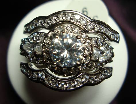 Gorgeous 3pcs Vintage Style 2.91ctw Cz Engagement Wedding