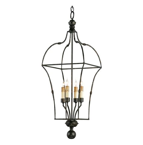 briane black wrought iron 4 light country lantern
