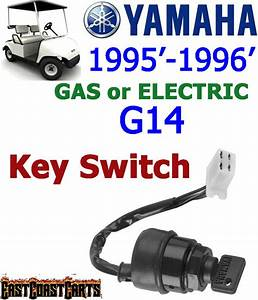 Yamaha G14 Gas And Electric Golf Cart Key Switch With Wiring Harness Jn3