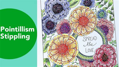 Coloring Techniques by Pointillism Stippling Time Lapse Tombow Coloring