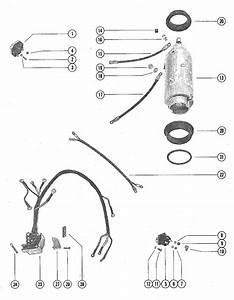Mercury Marine 70 Hp  3 Cylinder  Starter Motor  Starter Solenoid  U0026 Rectifier Assembly Parts