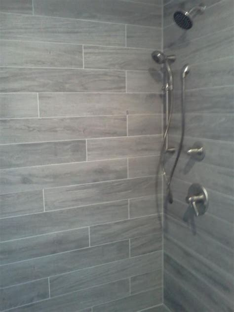 Gray Plank Tile Bathroom 25 Best Ideas About Gray Shower Tile On