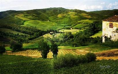 Tuscany Landscape Italy Desktop Wallpapers Valley Countryside