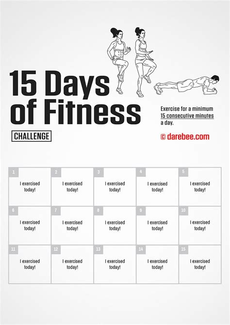 day  fitness challenge  darebee workout challenge