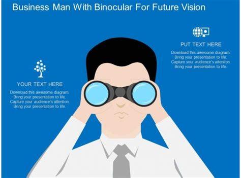 td business man  binocular  future vision flat