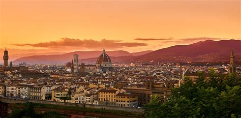 The view over Florence Italy at Sunset. : travel