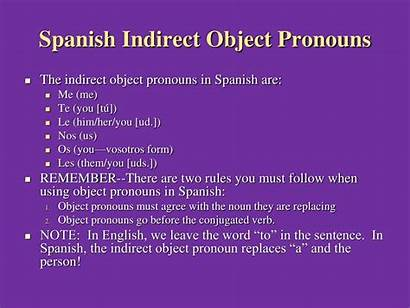 Pronouns Indirect Object Spanish Direct Nos Te