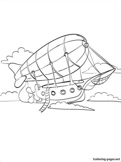 airship coloring page coloring pages
