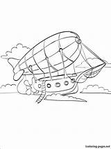 Coloring Airship Pages 1coloring Vehicles Interested Those Different Children sketch template
