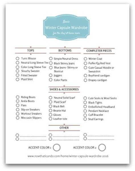 Capsule Wardrobe Planner by Winter Wardrobe Plan 130 For Stay At Home