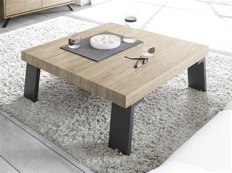 table basse bois carre meuble table basse carre industriel en bois et mtal