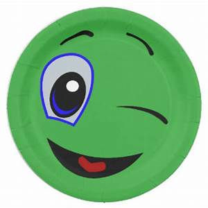 Green Smiley Plates | Zazzle