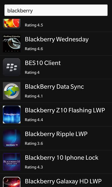 play store has all built for bb10 blackberry