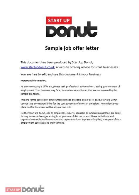 offer template offer letter template startup donut