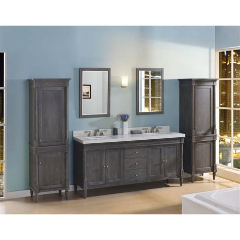 fairmont designs rustic chic  vanity double bowl