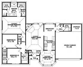 Single Story Bedroom House Plans by Bedroom 3 Bedroom Single Story House Plan One