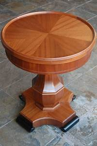 Stunning, Custom, Handcrafted, Mahogany, And, Ebony, Occasional, Table, By, Quattro