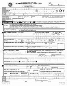 form mv 82itp in transit permit title application new With dmv documents needed for license