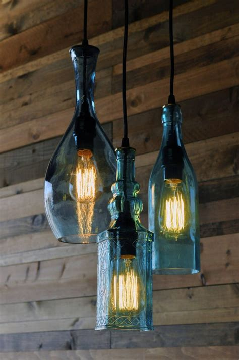 Recycled Wine Bottle Chandelier by 301 Moved Permanently