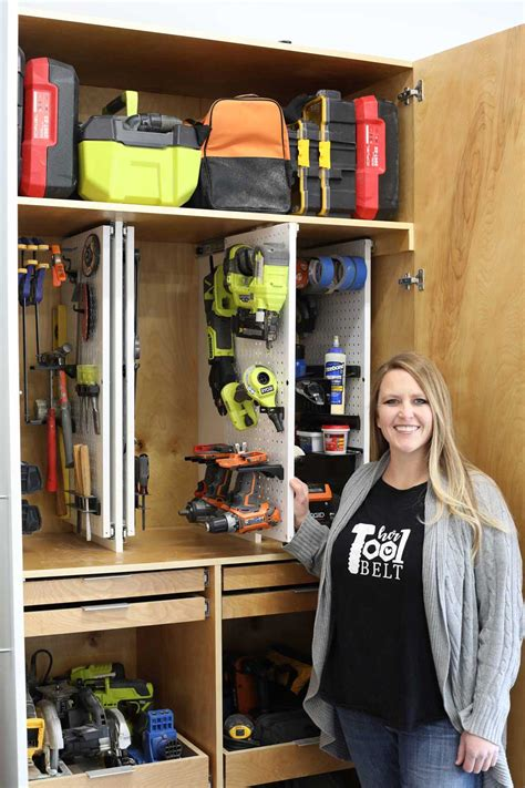 Tool Storage Cupboard by Garage Tool Storage Cabinet Plans Tool Belt