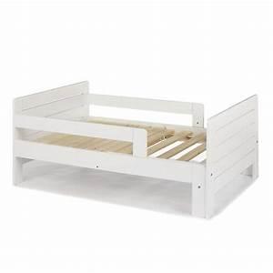 Lit evolutif blanc 3 positions pour enfant lilou lits for Décoration chambre adulte avec matelas lit evolutif lilou alinea