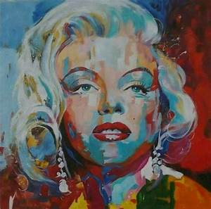 Tableau Peinture Moderne : tableau moderne marilyn monroe pop art peinture sur toile ~ Teatrodelosmanantiales.com Idées de Décoration