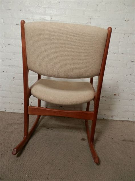 vintage mid century modern rocking chair by benny linden