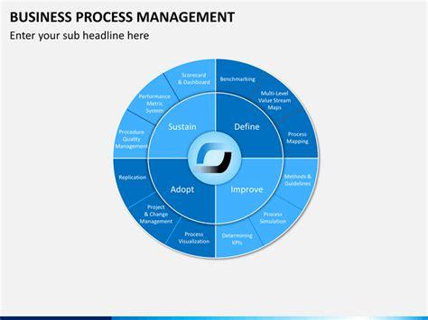 business process management powerpoint template sketchbubble