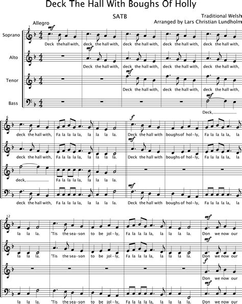 smashwords deck the halls pure sheet music for choir