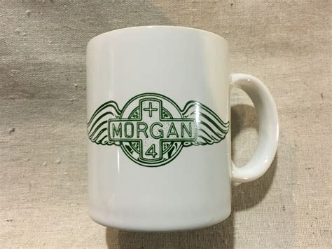 morgan coffee mug  green logo sports classics