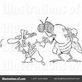 Flies Clipart Toonaday Rf sketch template