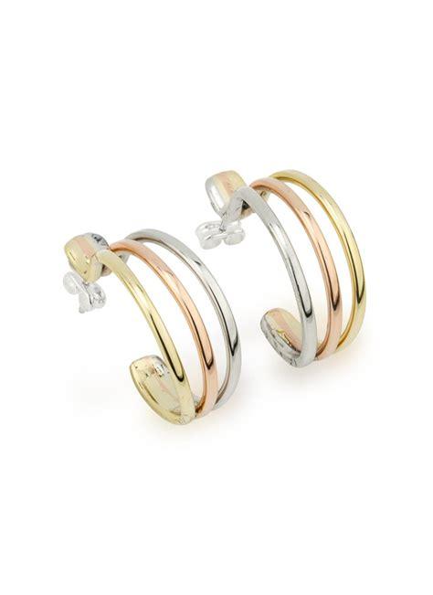 color hoop tri color hoop earrings blarney