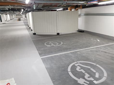car park marking  electric vehicle charging roadgrip