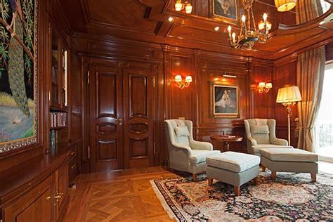 luxury library  solid cherry wood baur wohnfaszination