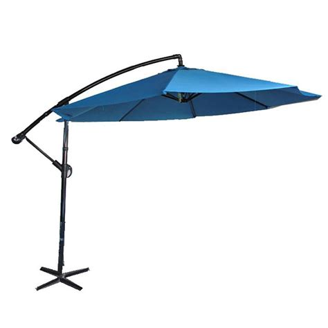 Cantilever Patio Umbrellas Canada by Henryka 10 Ft Cantilever Umbrella In Blue The Home