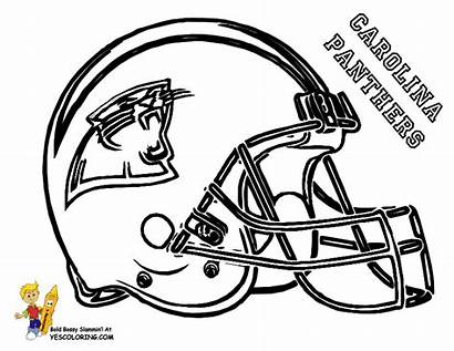 Football Coloring Helmet Panthers Carolina Pages Pro