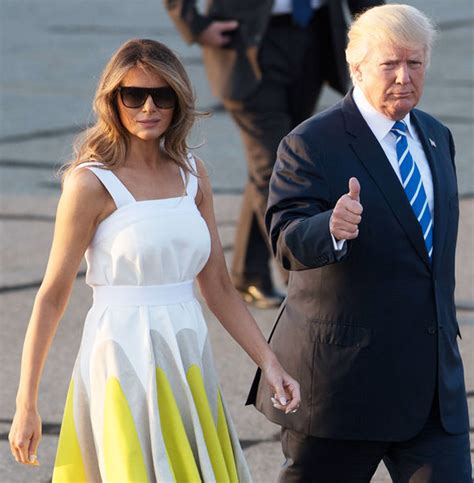 Melania Trump Dress Worn With Donald Trump And Barron Has Sold Out Expresscouk