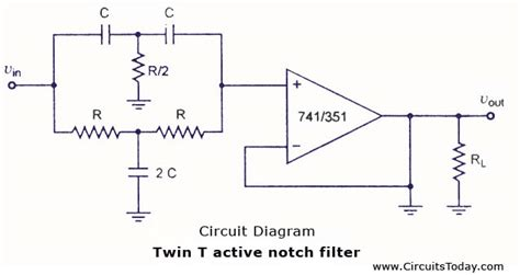 notch filter design band stop filter electronic circuits and diagrams