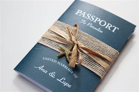 passport destination wedding invitation boarding pass
